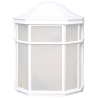 Nuvo 62/1416 Brentwood LED 8 inch White Outdoor Caged Lantern