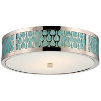 Raindrop LED 15 inch Polished Nickel Flush Mount Ceiling Light