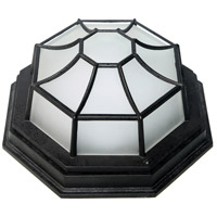 Nuvo 62/1420 LED Spider Cages LED 5 inch Black Outdoor Cage Fixture