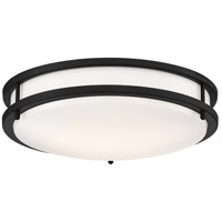 Nuvo 62/1436 Glamour LED 14 inch Black Flush Mount Ceiling Light