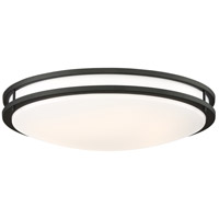 Nuvo 62/1438 Glamour LED 24 inch Matte Black Flush Mount Ceiling Light
