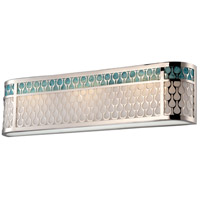 Raindrop LED 27 inch Polished Nickel Vanity Wall Light