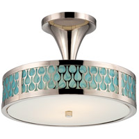 Nuvo Lighting Raindrop 2 Light Semi-Flush Mount in Polished Nickel 62/145