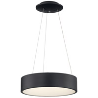 Nuvo 62/1458 Orbit LED 24 inch Black Pendant Ceiling Light