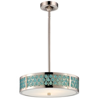 Raindrop LED 15 inch Polished Nickel Pendant Ceiling Light