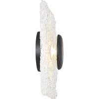 Nuvo 62/1492 Riverbed LED 10 inch Matte Black Flush Mount Ceiling Light