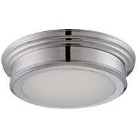 Nuvo Lighting Chance 1 Light Flush Mount in Polished Nickel 62/153