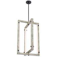 Nuvo 62/1551 Alta LED 18 inch Black and Gray Wood Pendant Ceiling Light