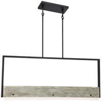 Nuvo 62/1553 Alta LED 2 inch Black and Gray Wood Pendant Ceiling Light