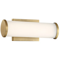Nuvo 62/1591 Lena LED 13 inch Brushed Brass Bathroom Vanity Wall Light