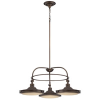 Houston LED 30 inch Rustic Brass Chandelier Ceiling Light
