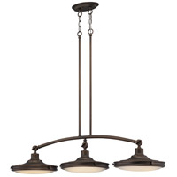 Houston LED 41 inch Rustic Brass Pendant Ceiling Light