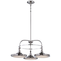 Nuvo Lighting Houston 3 Light Chandelier in Polished Nickel 62/166