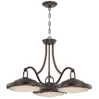 Nuvo Lighting Sawyer 3 Light Pendant in Antique Brass 62/172