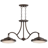 Nuvo Lighting Sawyer 2 Light Island Pendant in Antique Brass 62/173