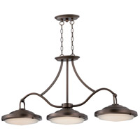 Nuvo Lighting Sawyer 3 Light Island Pendant in Antique Brass 62/174