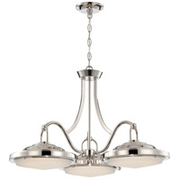 Nuvo 62/176 Sawyer LED 29 inch Polished Nickel Pendant Ceiling Light