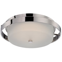 Nuvo Lighting Cirque 1 Light Flush Mount in Polished Nickel 62/182