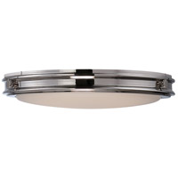 Nuvo Lighting Houston 1 Light Flush Mount in Polished Nickel 62/302