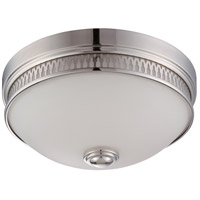 Nuvo Lighting Harper 1 Light Flush Mount in Polished Nickel 62/321