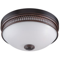 Nuvo Lighting Harper 1 Light Flush Mount in Georgetown Bronze 62/322