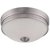 Nuvo Lighting Harper 1 Light Flush Mount in Brushed Nickel 62/323