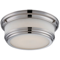 Nuvo Lighting Dawson 1 Light Flush Mount in Polished Nickel 62/324