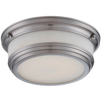 Nuvo Lighting Dawson 1 Light Flush Mount in Brushed Nickel 62/326