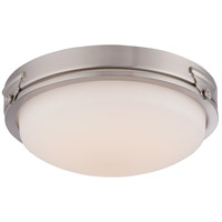 Nuvo Crest 1 Light Flush Mount in Brushed Nickel 62/351