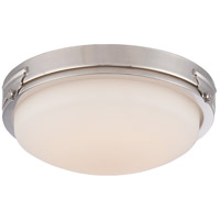 Nuvo Crest 1 Light Flush Mount in Polished Nickel 62/353