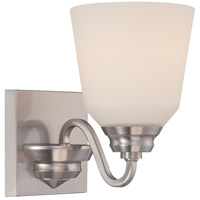 Nuvo Calvin 1 Light Vanity Light in Brushed Nickel 62/366