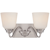 Nuvo Calvin 2 Light Vanity Light in Brushed Nickel 62/367