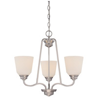 Calvin LED 22 inch Brushed Nickel Chandelier Ceiling Light