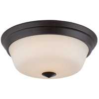 Calvin LED 13 inch Mahogany Bronze Flush Mount Ceiling Light
