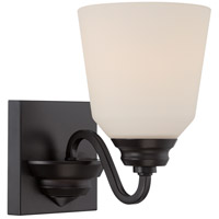 Nuvo Calvin 1 Light Vanity Light in Mahogany Bronze 62/376