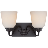 Nuvo Calvin 2 Light Vanity Light in Mahogany Bronze 62/377