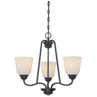 Nuvo 62/379 Calvin LED 22 inch Mahogany Bronze Chandelier Ceiling Light