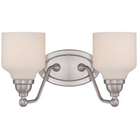 Nuvo Kirk 2 Light Vanity Light in Polished Nickel 62/387