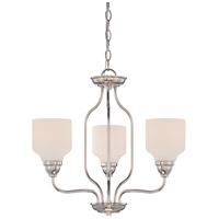 Nuvo Kirk 3 Light Chandelier in Polished Nickel 62/389