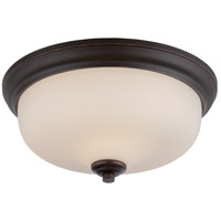 Nuvo 62/393 Kirk LED 13 inch Mahogany Bronze Flush Mount Ceiling Light