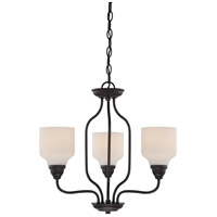 Kirk LED 21 inch Mahogany Bronze Chandelier Ceiling Light