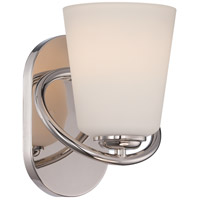 Nuvo Dylan 1 Light Vanity Light in Polished Nickel 62/406