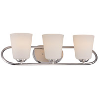 Nuvo Dylan 3 Light Vanity Light in Polished Nickel 62/408