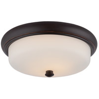 Nuvo 62/413 Dylan LED 13 inch Mahogany Bronze Flush Mount Ceiling Light