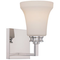 Nuvo Cody 1 Light Vanity Light in Polished Nickel 62/426