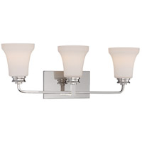 Nuvo Cody 3 Light Vanity Light in Polished Nickel 62/428