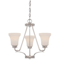 Nuvo Cody 3 Light Chandelier in Polished Nickel 62/429