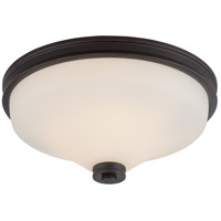 Nuvo 62/433 Cody LED 13 inch Mahogany Bronze Flush Mount Ceiling Light