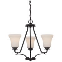 Nuvo 62/439 Cody LED 21 inch Mahogany Bronze Chandelier Ceiling Light