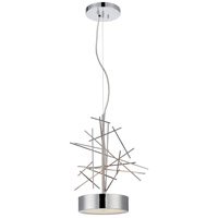 Nuvo 62/462 Jax LED 14 inch Polished Nickel Pendant Ceiling Light photo thumbnail